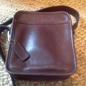 Retro 1980's Leather Coach Bag